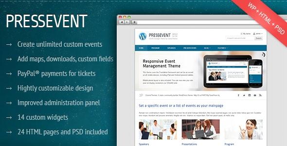 PressEvent - Event Management Theme - Corporate WordPress