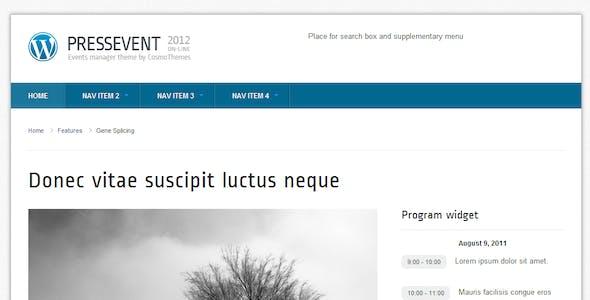PressEvent - Event Management Theme