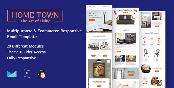 HomeTown-Multipurpose Ecommerce Responsive Email Template - Email Templates Marketing