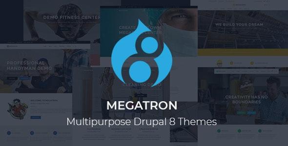 Megatron - Responsive MultiPurpose Drupal 8 Theme - Business Corporate