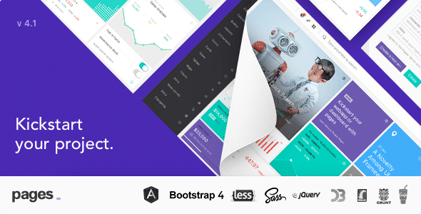 Pages - Admin Dashboard Template with Angular 6, Bootstrap 4 & HTML by ace