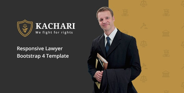 Kachari - Personal Lawyer & Attorney HTML Template - Business Corporate