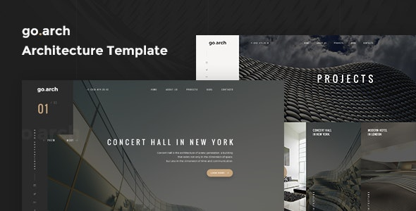 go.arch - One Page Architecture & Interior Template - Business Corporate