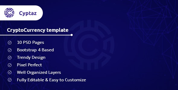 Cyptaz - CryptoCurrency PSD Template - Business Corporate