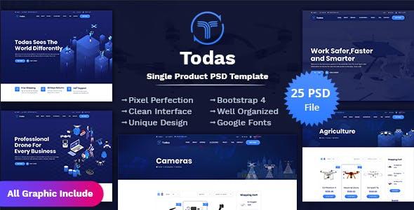 Todas - Single Product PSD Template