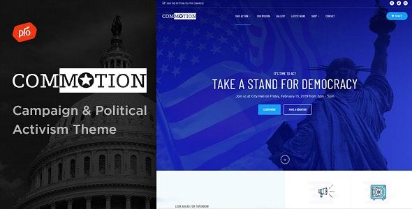 Commotion - Campaign & Political Activism Theme - Activism Nonprofit