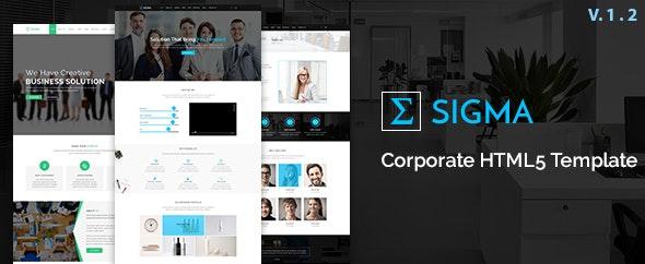 Sigma Corporate HTML5 Template - Business Corporate