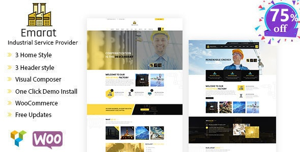 Emarat-Industry & Business WordPress Theme - Business Corporate