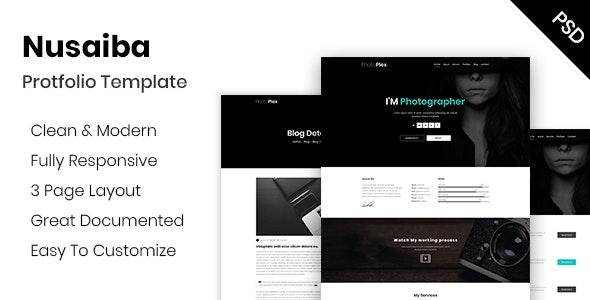 Nusaiba – Portfolio or CV PSD Template - Portfolio Creative