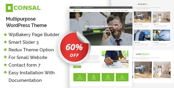 Consal - Corporate Business Agency WordPress Theme - Business Corporate