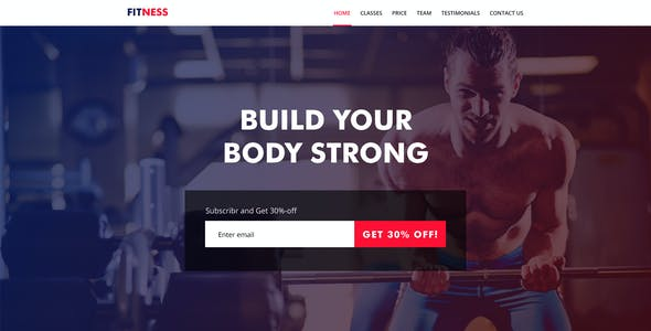 GYM, Yoga, Personal Trainer PSD Template & Landing page