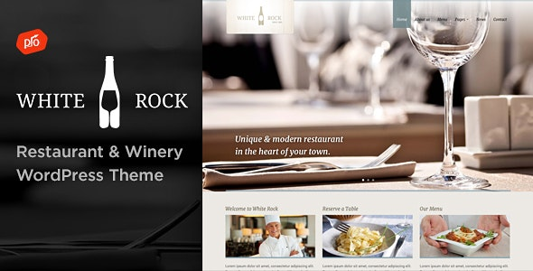 White Rock - Restaurant & Winery Theme by ProgressionStudios