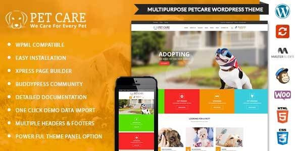 PetCare - WordPress Multipurpose Theme - WordPress