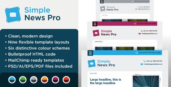 Simple News Pro - Email Marketing Template - Email Templates Marketing