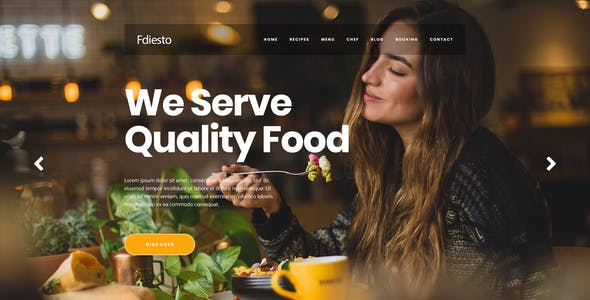 Fdiesto - Restaurant PSD Template.