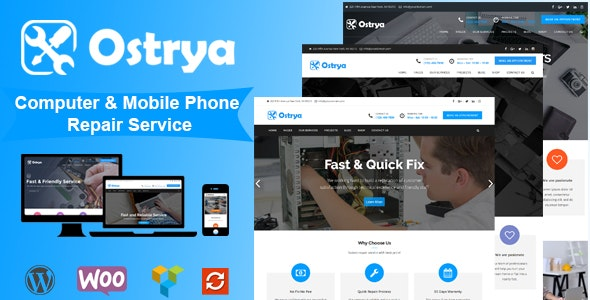 Ostrya – Computer and Mobile Phone Repair Service WordPress Theme