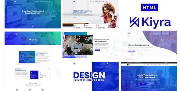 Kiyra - Creative Agency HTML5 Template - Portfolio Creative