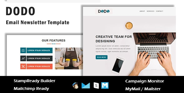 Dodo - Multipurpose Responsive Email Template With Online StampReady Builder Access - Newsletters Email Templates