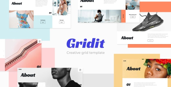 Gridit - Creative Grid HTML Template - Creative Site Templates