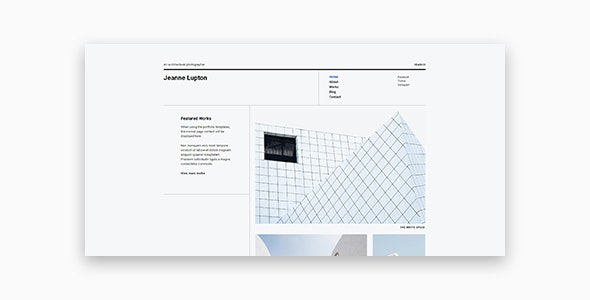 Jeanne - Minimal Photography and Portfolio WordPress Theme - Photography Creative