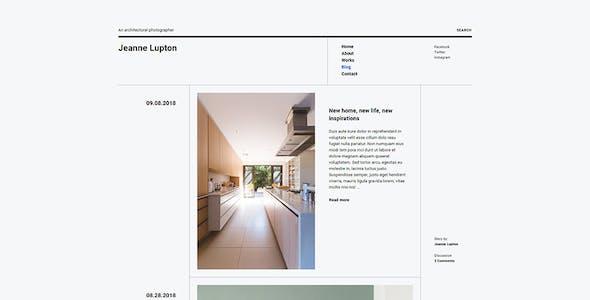 Jeanne - Minimal Photography and Portfolio WordPress Theme