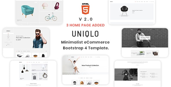 Uniqlo - Minimal HTML Template - Shopping Retail