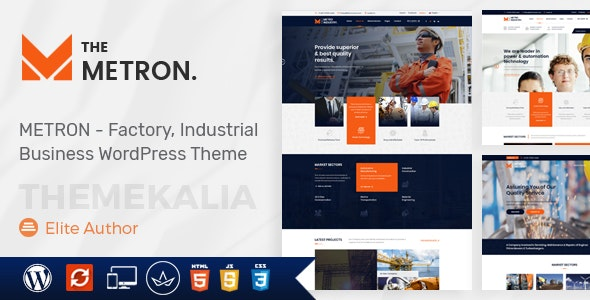 Metron - Industry and Construction WordPress Theme - Business Corporate