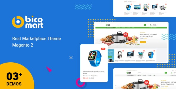 Bicomart - Best Magento 2 Multi Vendor Marketplace Theme by