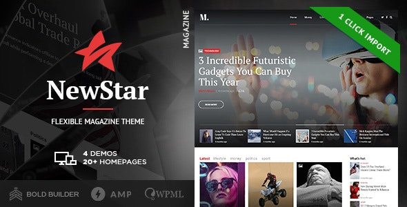 NewStar - Magazine & News WordPress Theme - Blog / Magazine WordPress