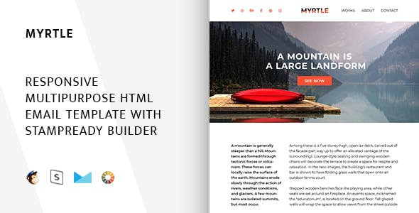 Myrtle – Responsive Email + StampReady, MailChimp & CampaignMonitor compatible files