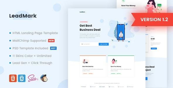 LeadMark - Business HTML Landing Page Template - Marketing Corporate