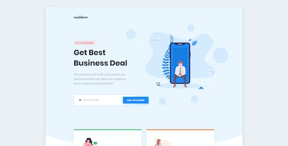 LeadMark - Business HTML Landing Page Template
