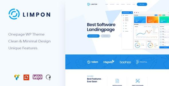 Limpon - App Landing Page WordPress Theme - Software Technology