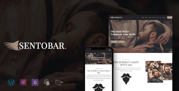Sentobar - Barbershop WordPress Theme