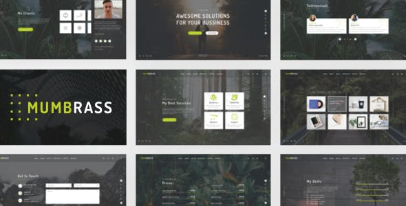 Mumbrass - Full Screen Personal Portfolio Sketch Template