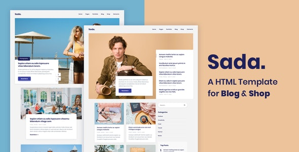 Sada - A HTML Template For Blog & Shop - Creative Site Templates