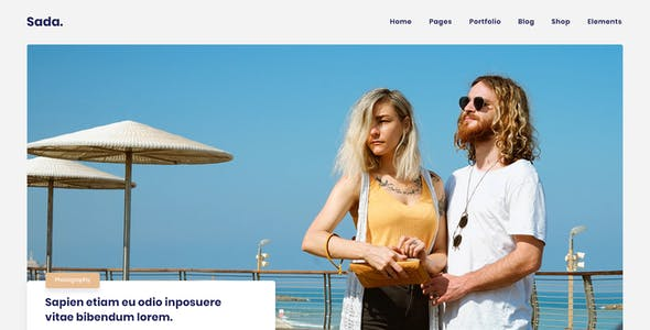 Sada - A HTML Template For Blog & Shop