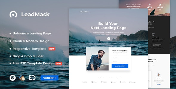 LeadMask - Services Unbounce Landing Page Template - Unbounce Landing Pages Marketing