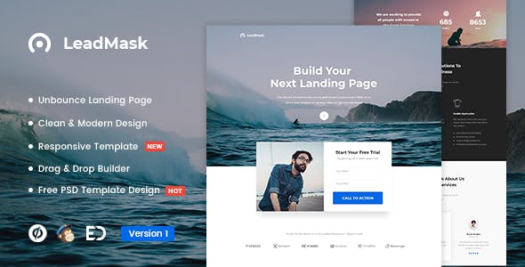 LeadMask - Services Unbounce Landing Page Template