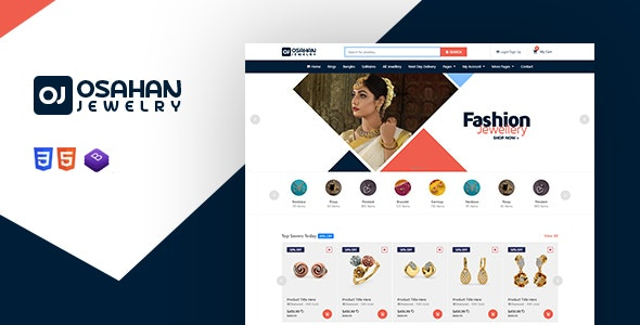 Osahan Jewelry - Bootstrap4 Responsive Jewelry Light Template - Retail Site Templates