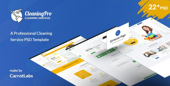CleanPro - Cleaning Service PSD Template - Business Corporate
