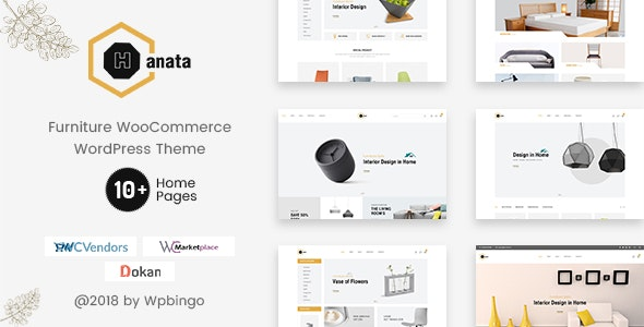 Hanata - Marketplace WooCommerce Furniture Theme - WooCommerce eCommerce