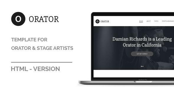 Orator - HTML Template - Film & TV Entertainment
