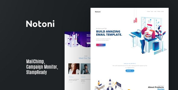 Notoni | Email Newsletter - Email Templates Marketing