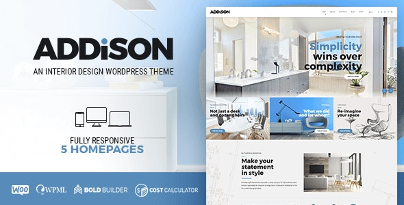 Addison - Architecture & Interior Design - Portfolio Creative