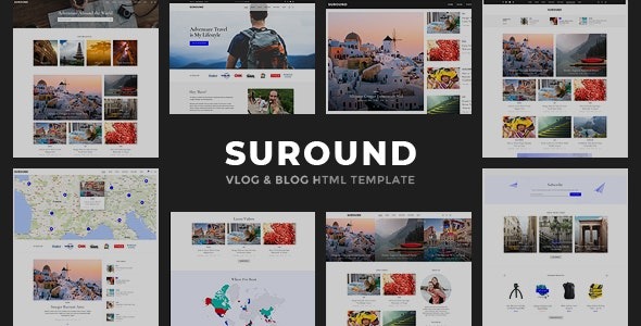 Suround - Vlog & Blog HTML Template - Personal Site Templates