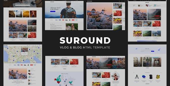 Suround - Vlog & Blog HTML Template