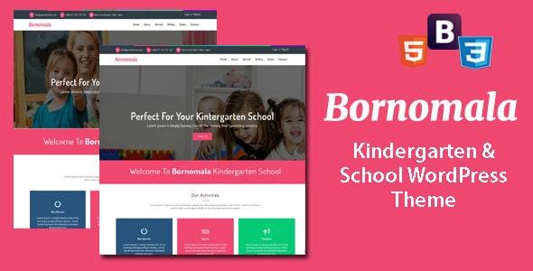 Bornomala - Kindergarten & School WordPress Theme - Education WordPress