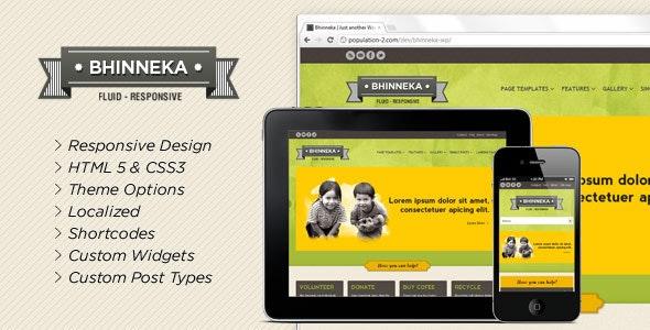 Bhinneka - a Responsive WordPress Theme - Nonprofit WordPress