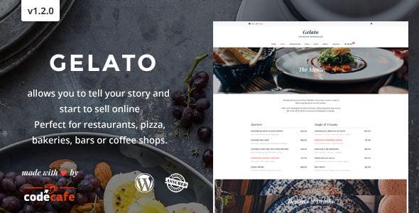Gelato - A Magnifient Restaurant Theme - Restaurants & Cafes Entertainment